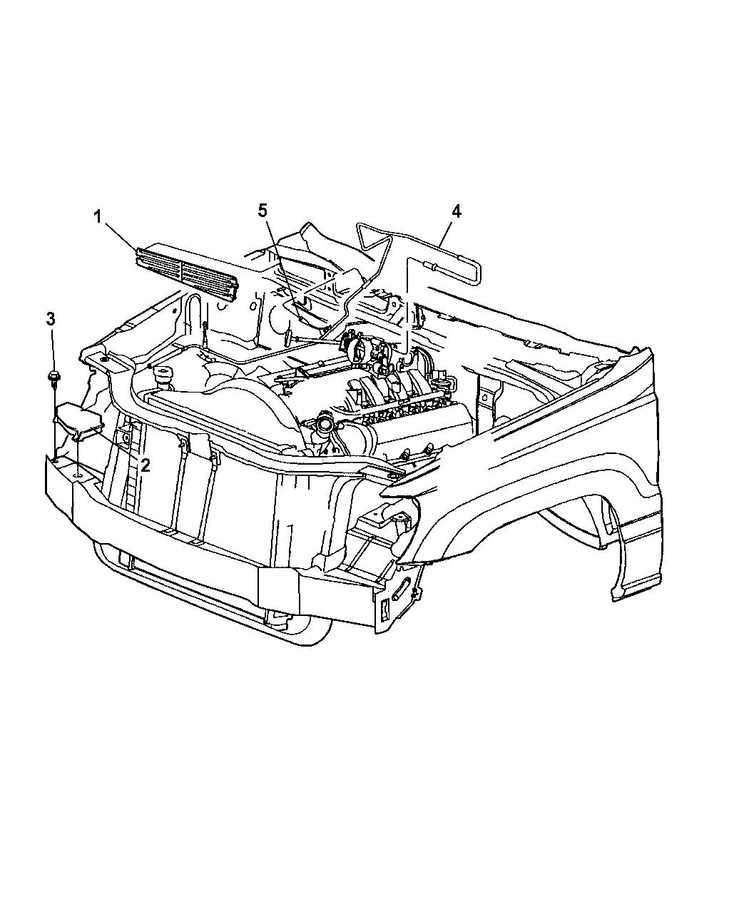 2003 Jeep Grand Cherokee HEVAC Vacuum Engine Lines & Controls