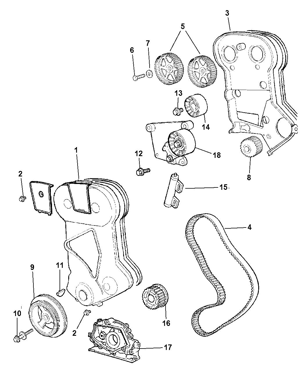 4884320AA - Genuine Mopar TENSIONER-BELT