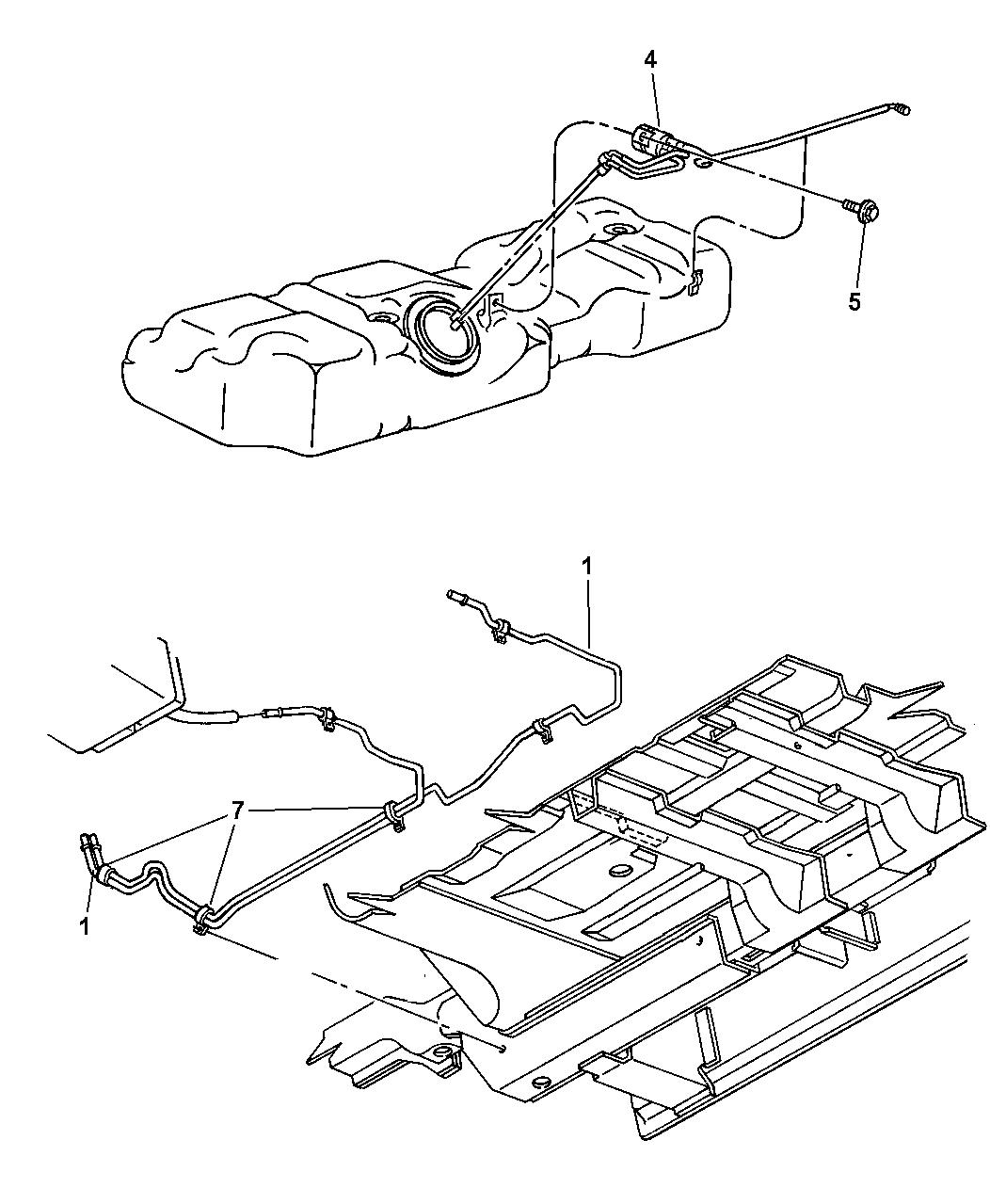 2003 dodge grand caravan fuel filter diagram