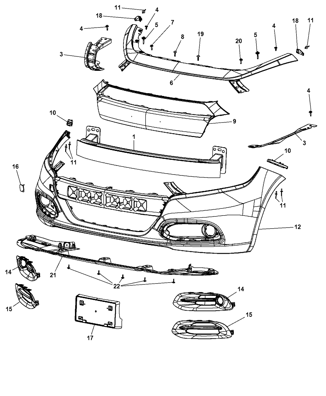 2013 Dodge Dart Fascia, Front
