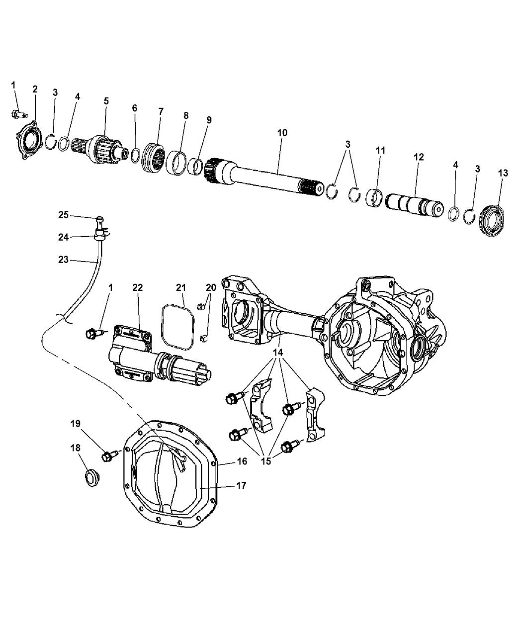 52114382ac Genuine Mopar Shaft Front Axle