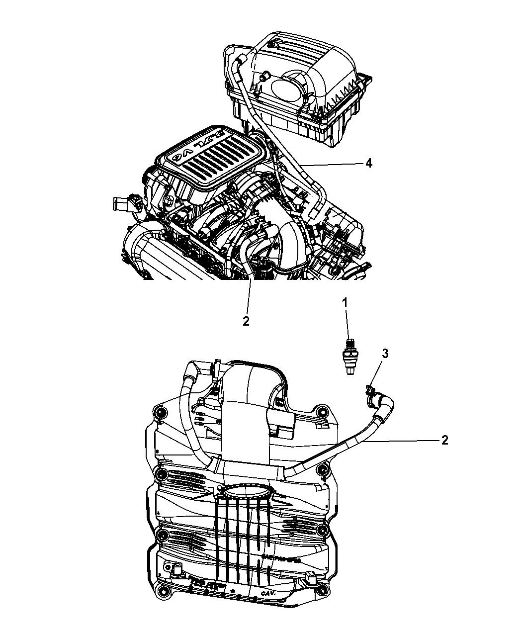 2008 Jeep Liberty Crankcase Ventilation - Thumbnail 2