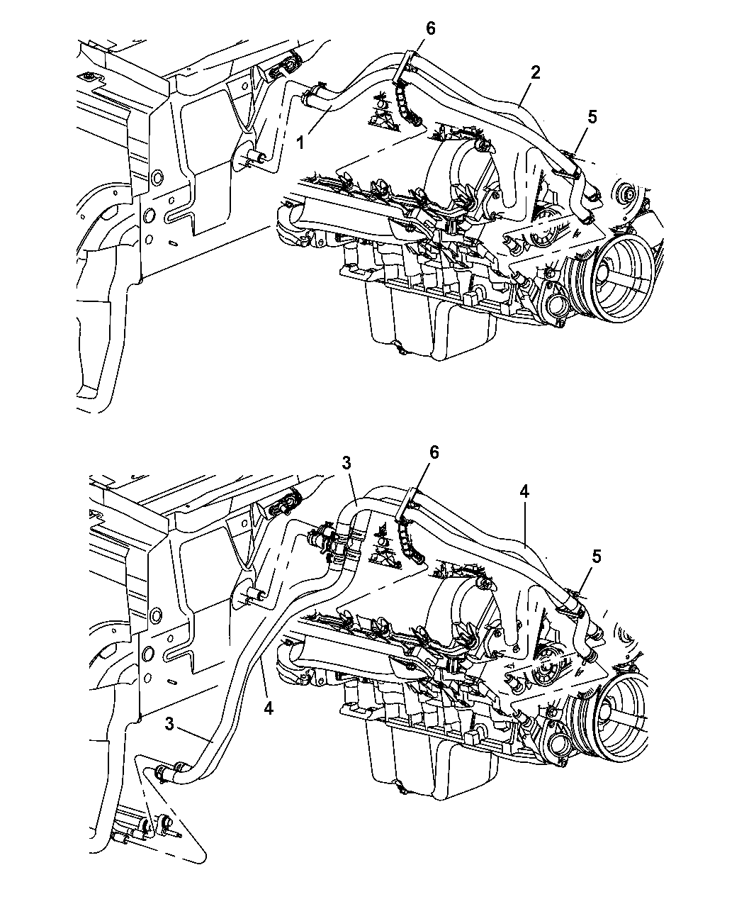 A7801 5 7 Hemi Engine Diagram Without Ac