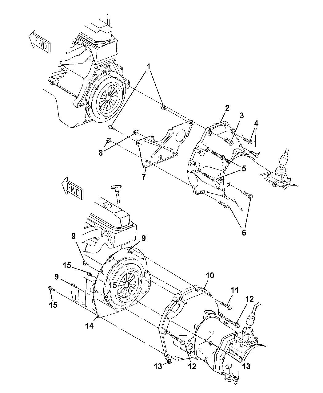 52107552 Genuine Jeep Housing Clutch 4 0l Engine Bellhousing Diagram 1998 Wrangler Pan
