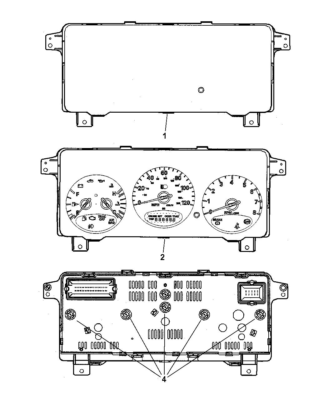 2001 chrysler pt cruiser wiring diagram 2001 chrysler pt cruiser cluster  instrument panel  2001 chrysler pt cruiser cluster