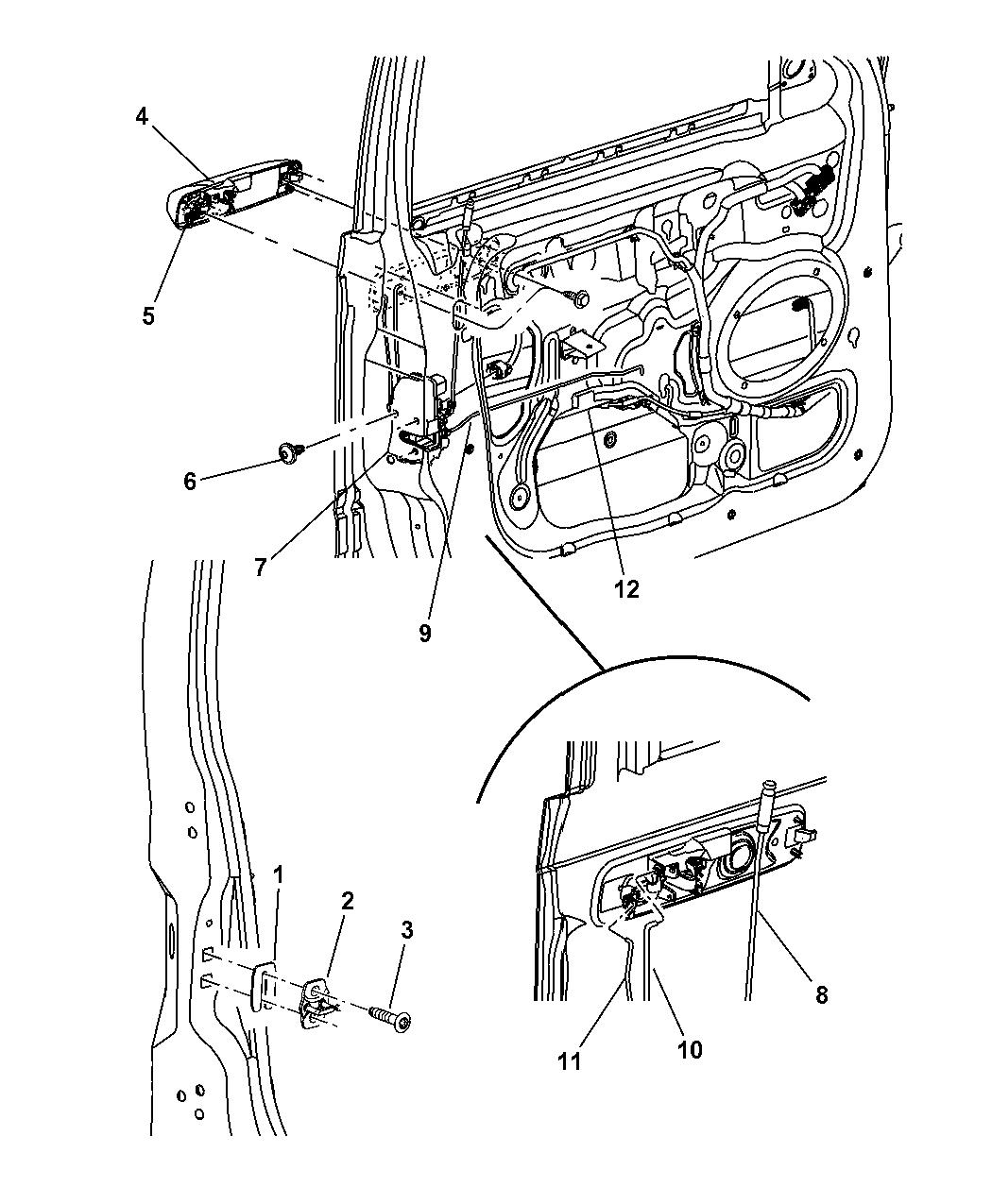 55396906ab Genuine Jeep Link Door Latch Diagrams 2007 Grand Cherokee Front Lock Controls