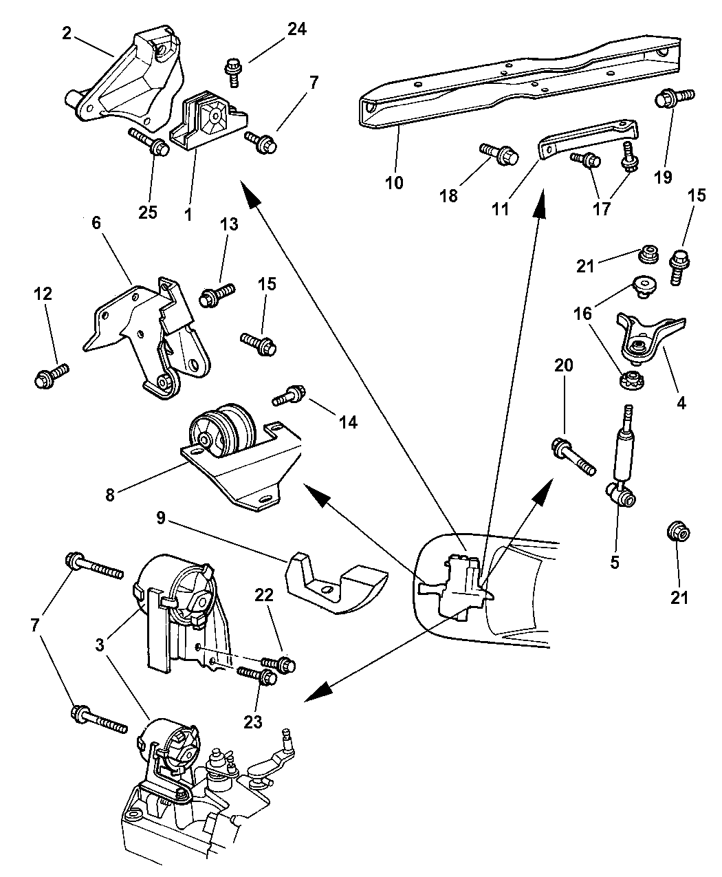 Resource T D Amp S L Amp R Ab C Ee C Be F B F B E C D D A E B A F on Dodge Neon Engine Mount Diagram