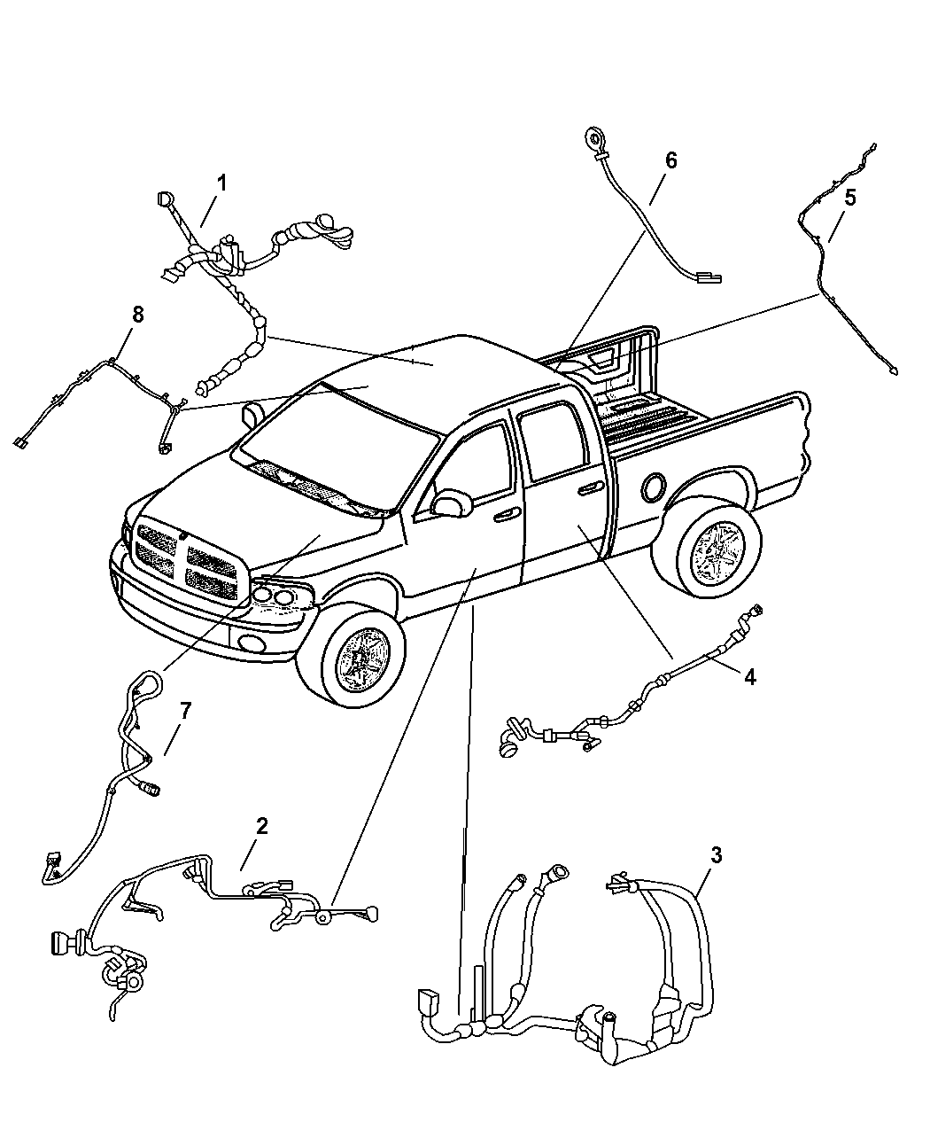 2005 dodge ram 1500 wiring body front