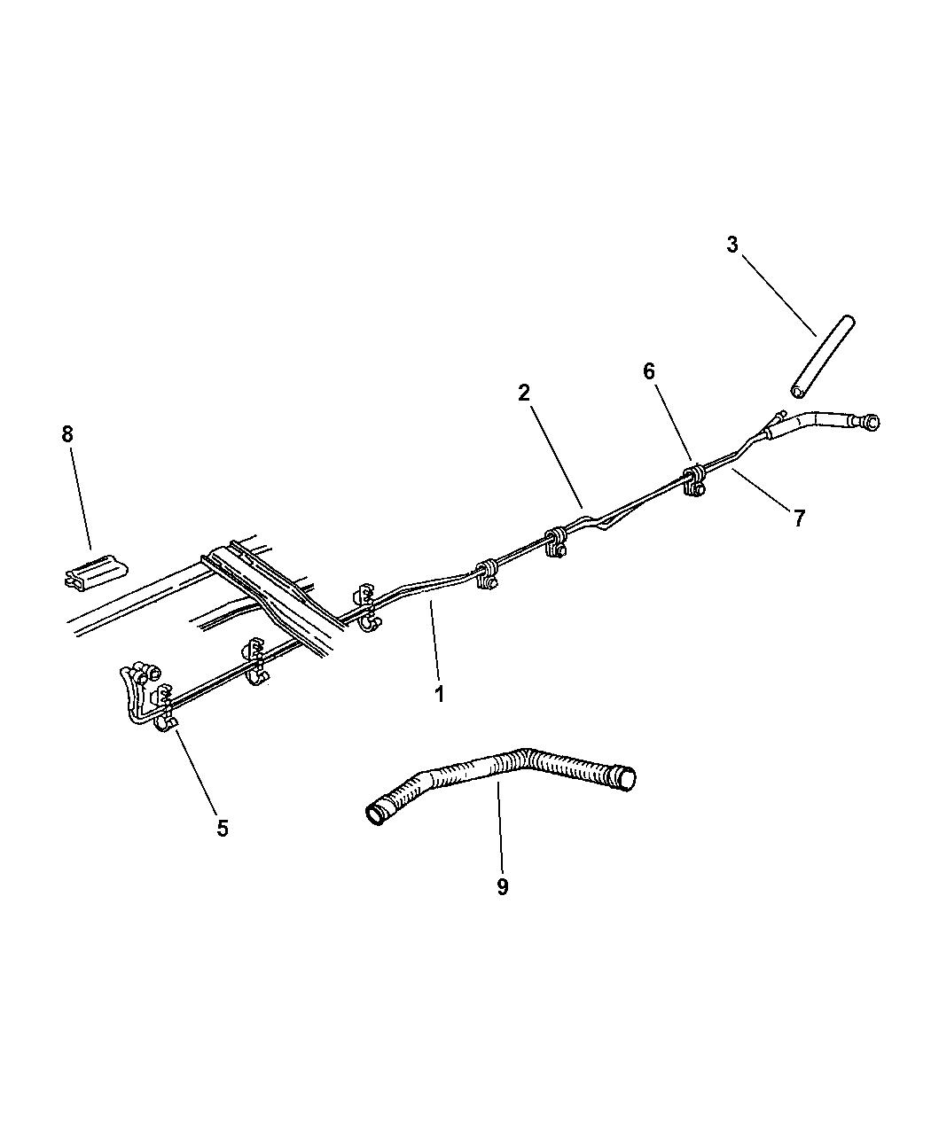 1997 dodge ram 3500 fuel lines  rear