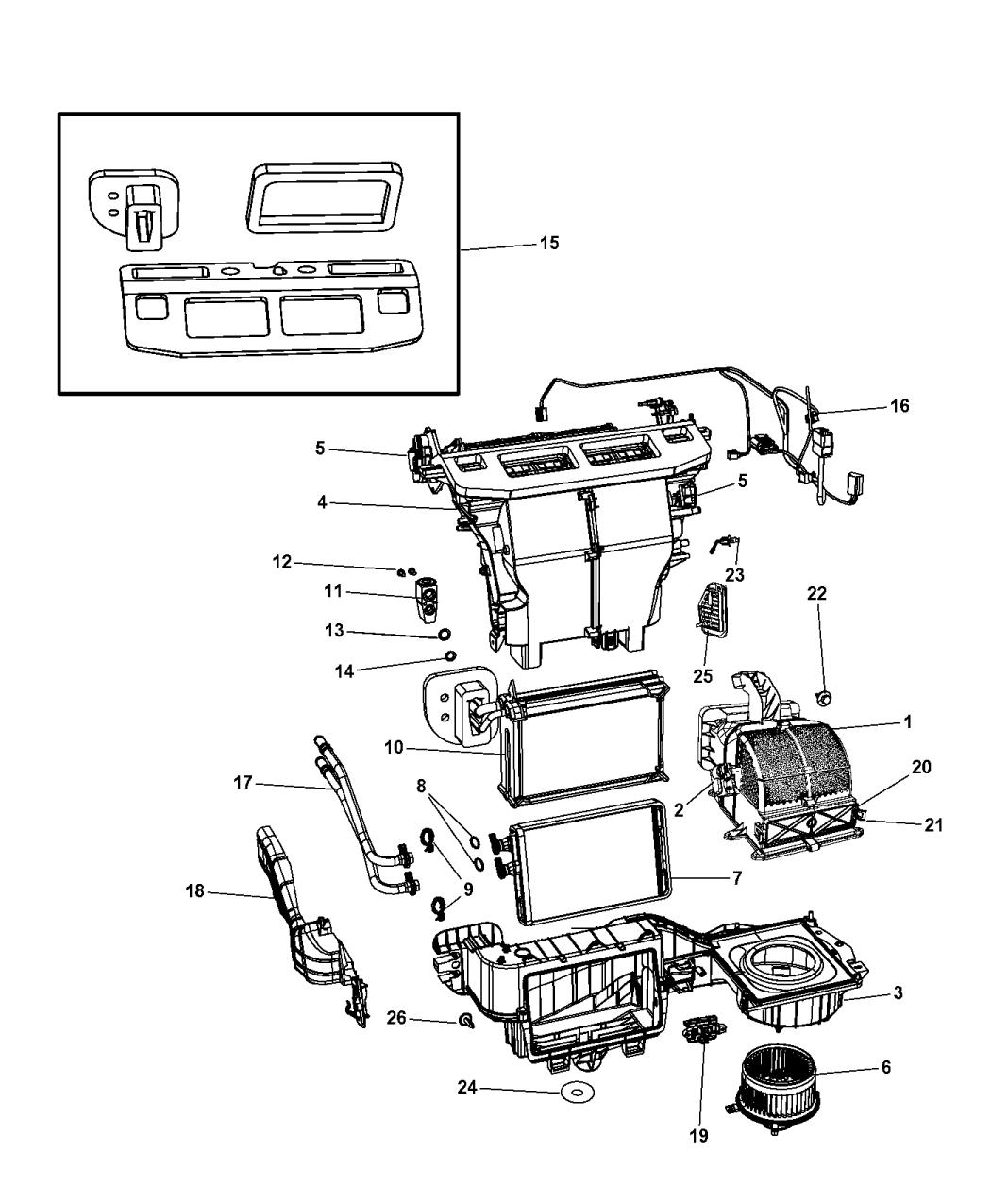 68299450aa genuine mopar actuator a c and heater. Black Bedroom Furniture Sets. Home Design Ideas