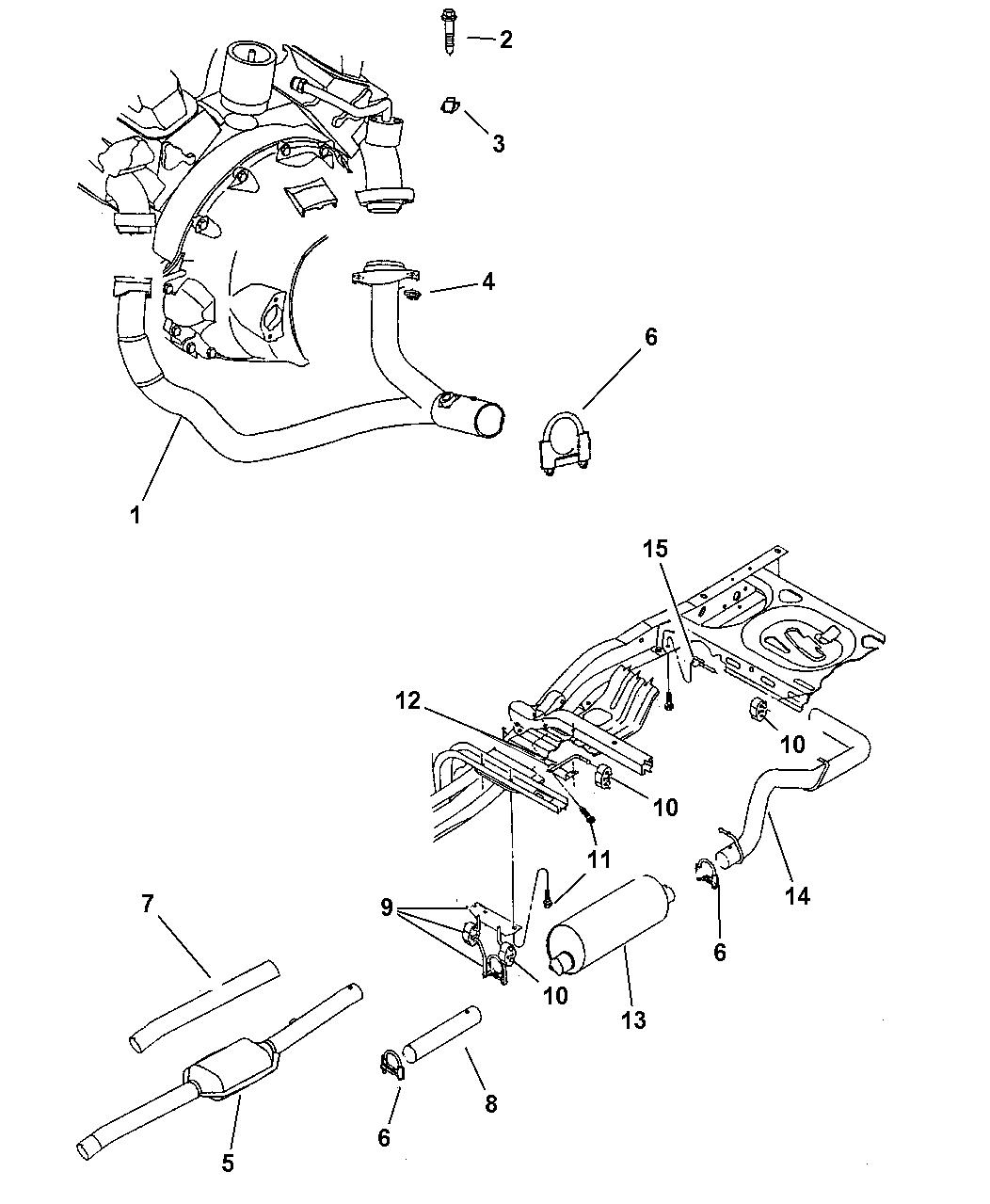 1998 Dodge Dakota Exhaust System - Mopar Parts Giant