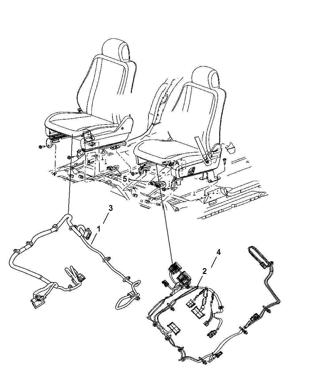 2006 Dodge Durango Wiring - Seats