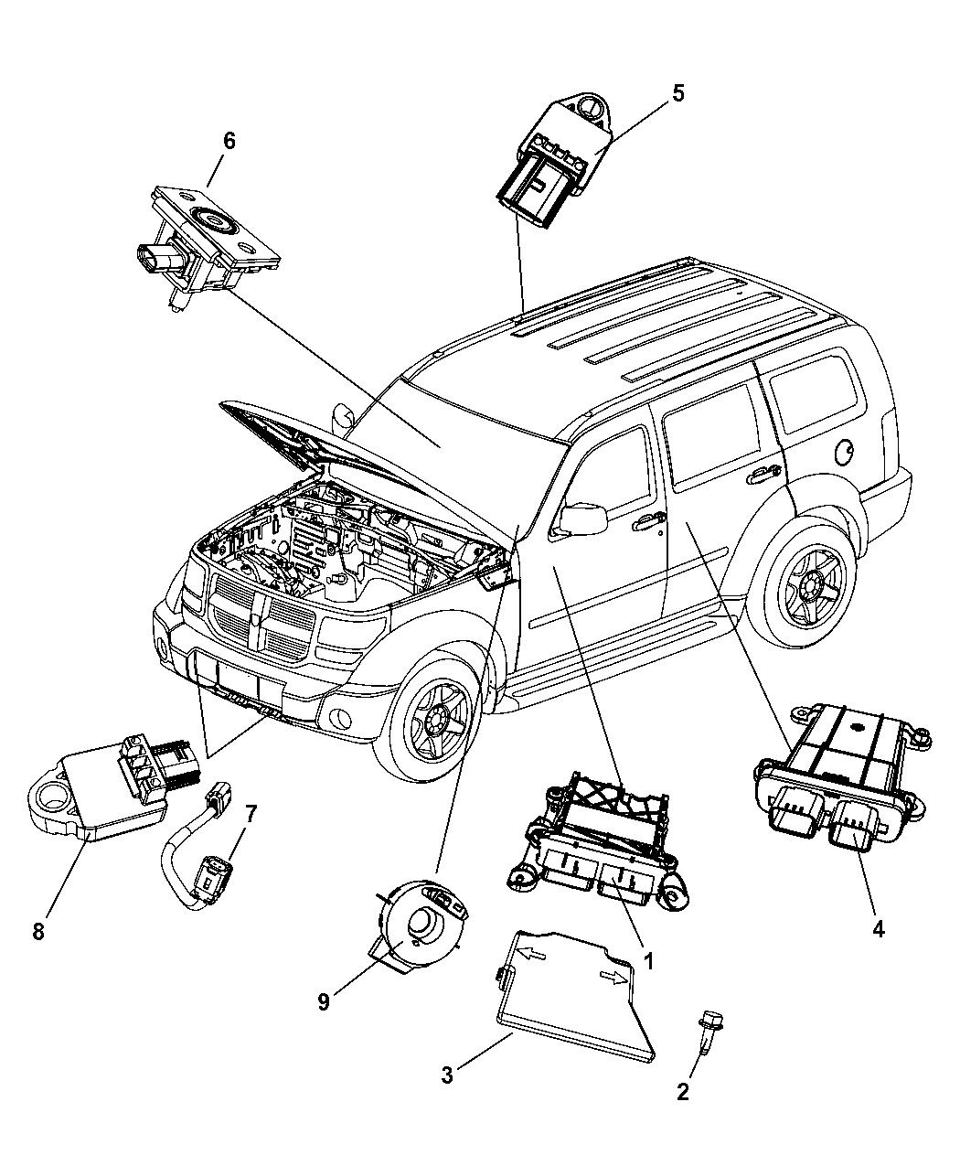 2010 Dodge Avenger Transmission: Genuine Mopar CLKSPRING-STEERING COLUMN