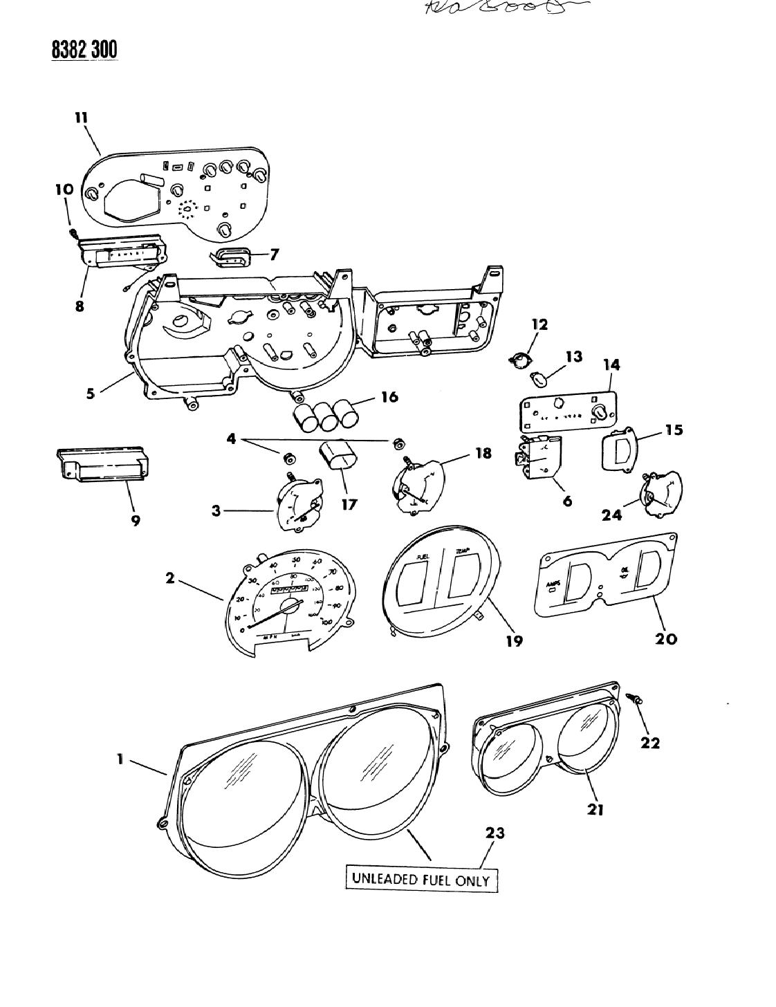 1989 Dodge Ram Van Instrument Panel Cluster Mopar Parts Giant Wiring Diagram