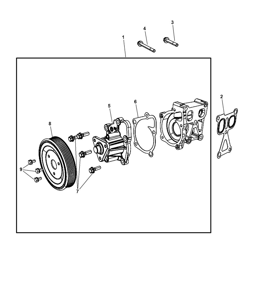 2013 Jeep Compass Water Pump Related Parts Mopar Giant Engine Diagram Thumbnail 1