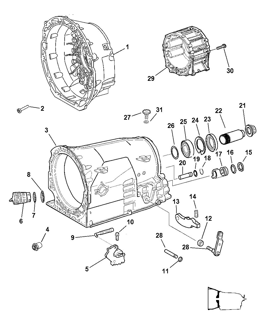 4799433ab Genuine Mopar Nut Transmission Case