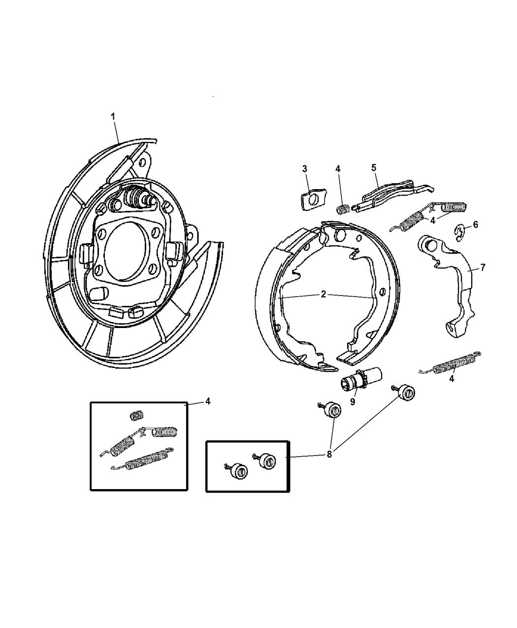 Ford Taurus Drum Brake Diagram