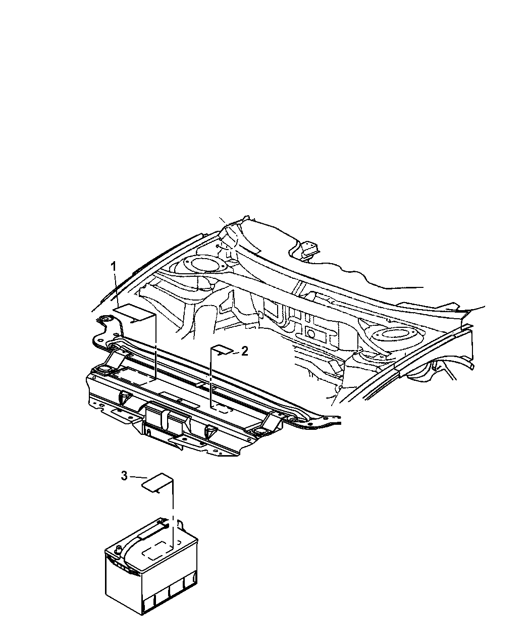2009 Dodge Charger Engine Compartment