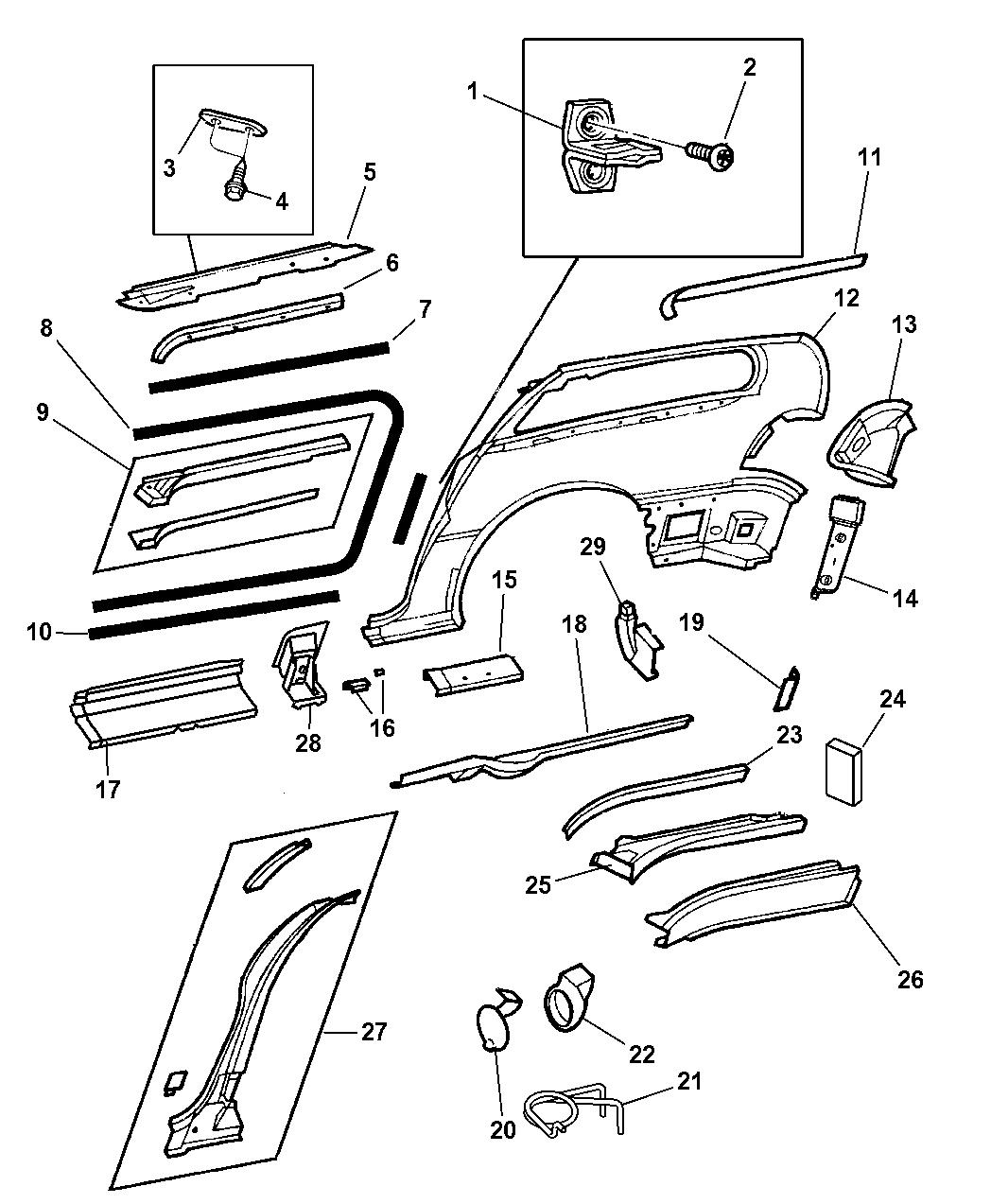 Genuine Chrysler 4860696AB Tail Lamp Opening Extension