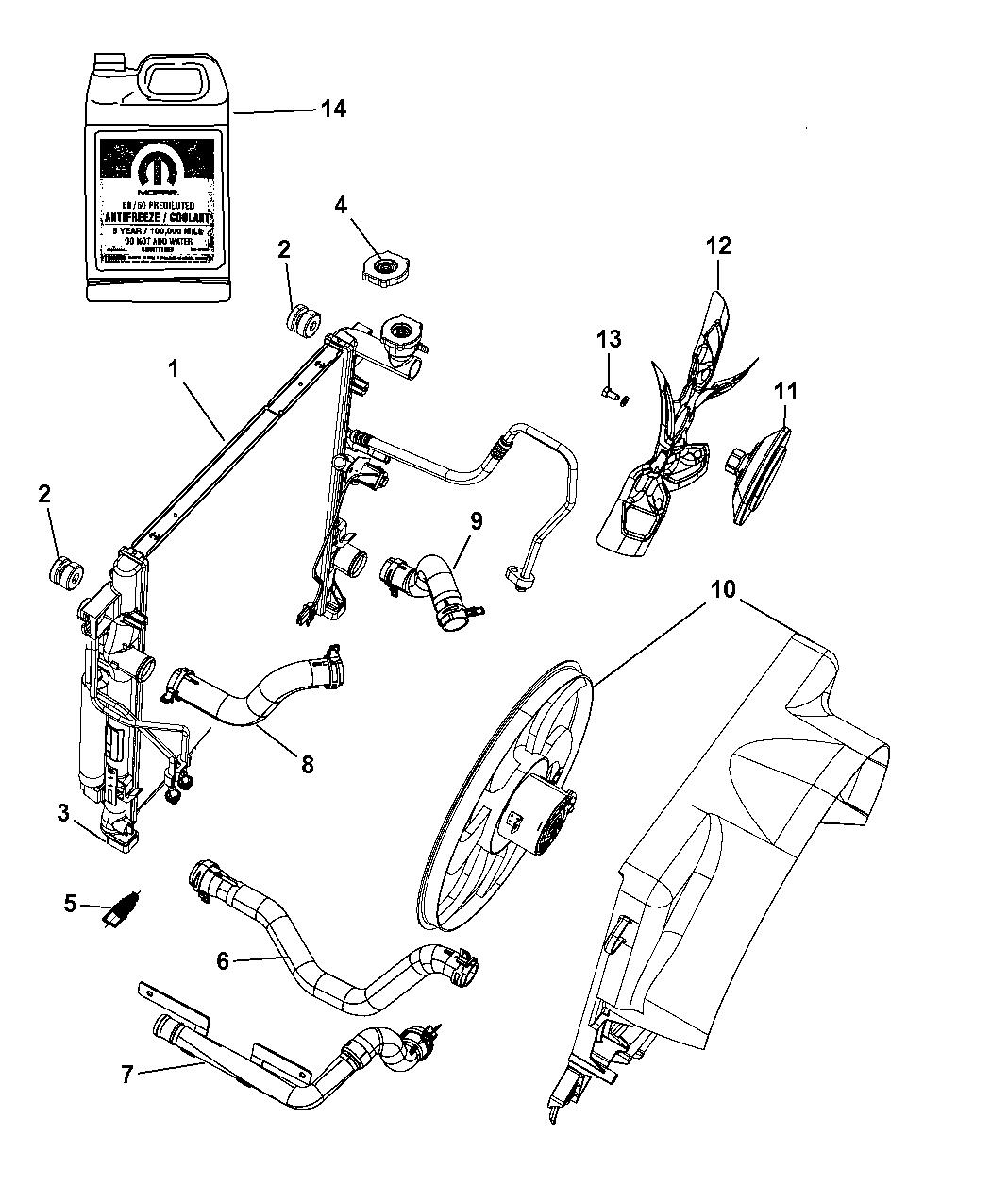 Auto Parts & Accessories Radiator Drain Plug-VIN B Mopar