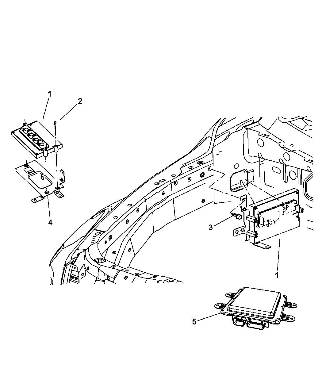 2008 Chrysler Aspen Modules  Engine Compartment