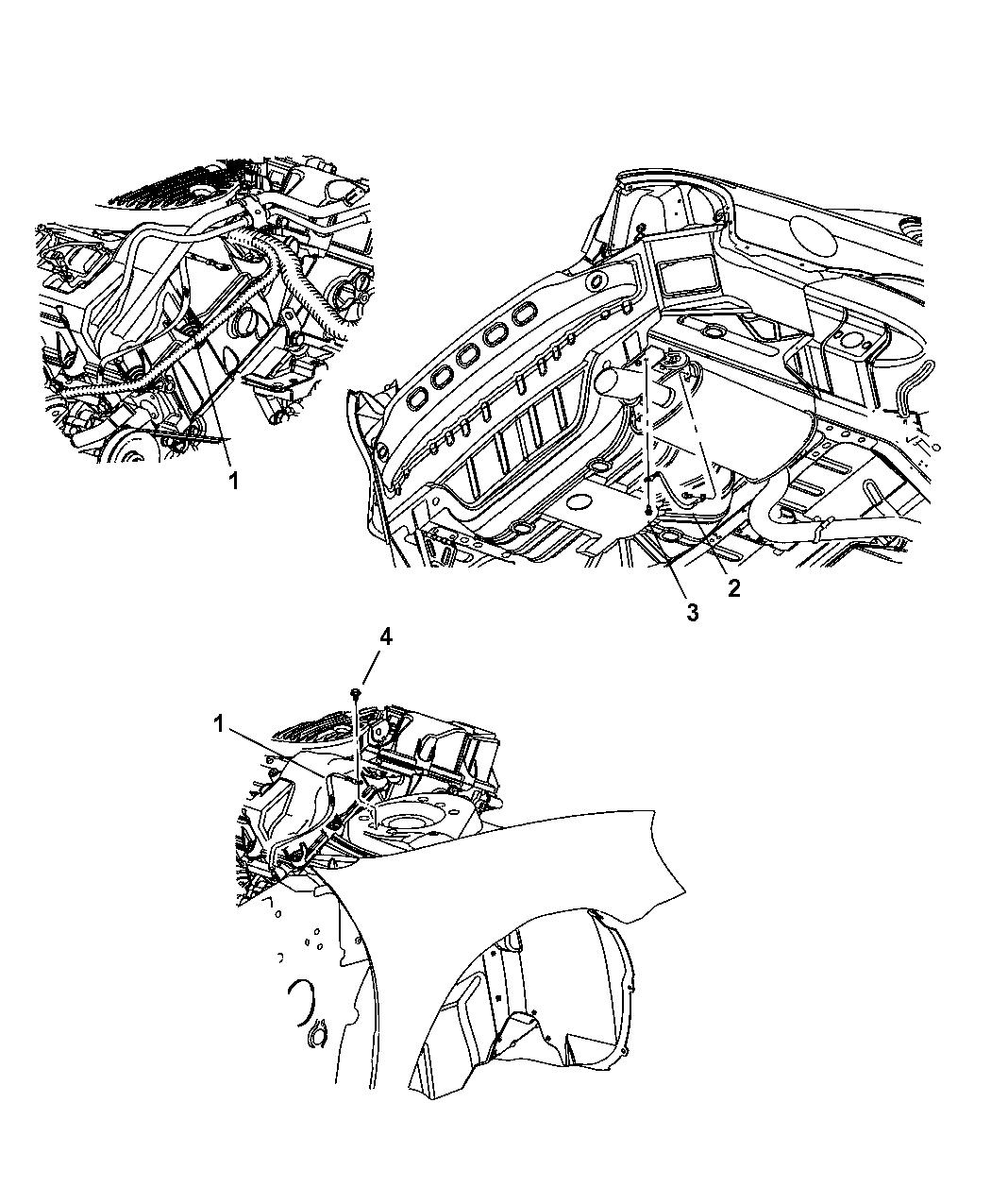 2005 Dodge Stratus Sedan Ground Straps Engine Mopar Parts Giant Diagram