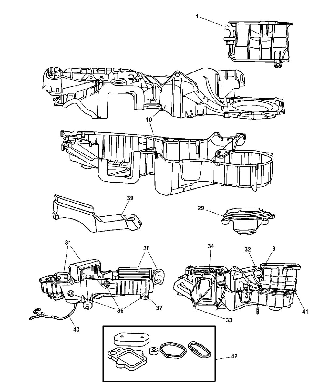 2002 Chrysler PT Cruiser Air Conditioning & Heater Unit