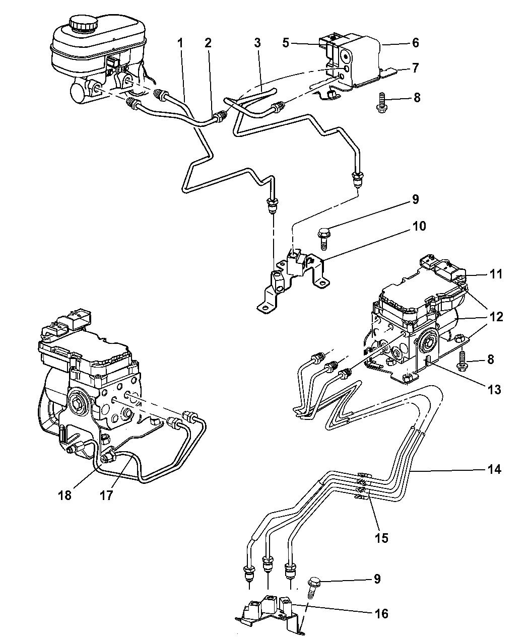 5093398AB - Genuine Dodge BRACKET-ANTI-LOCK BRAKE MODULE