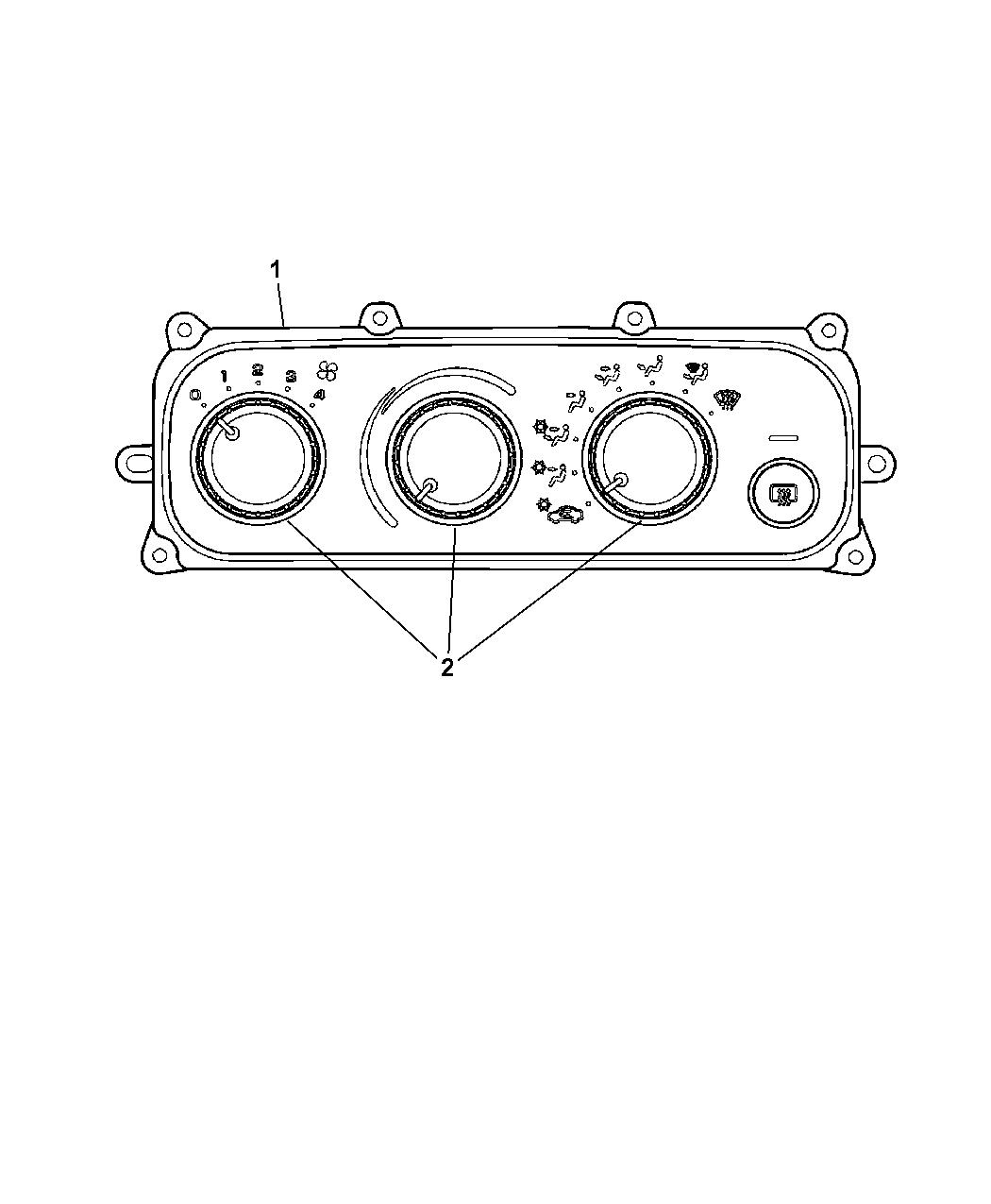 2001 Chrysler Sebring Sedan & Convertible Controls, A/C