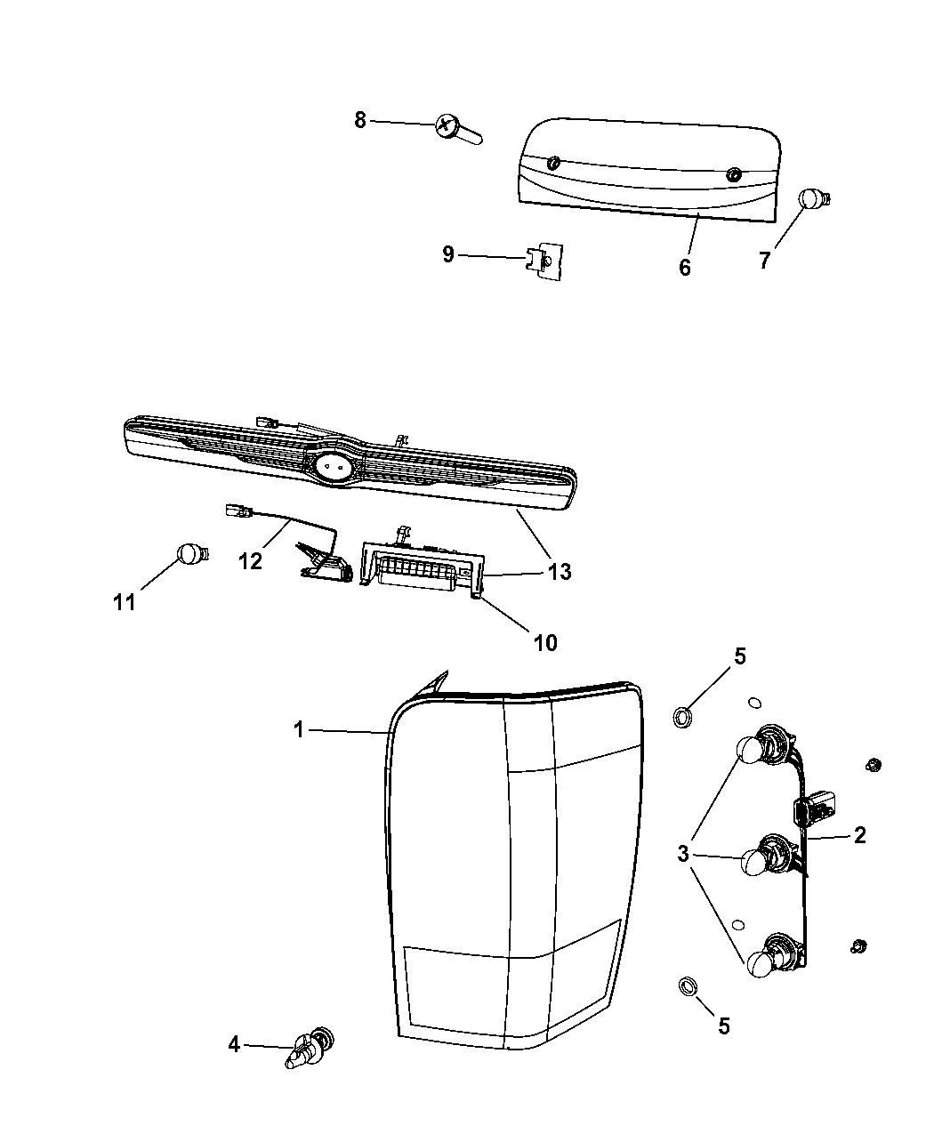 68001318ab genuine chrysler wiring taillamp. Black Bedroom Furniture Sets. Home Design Ideas