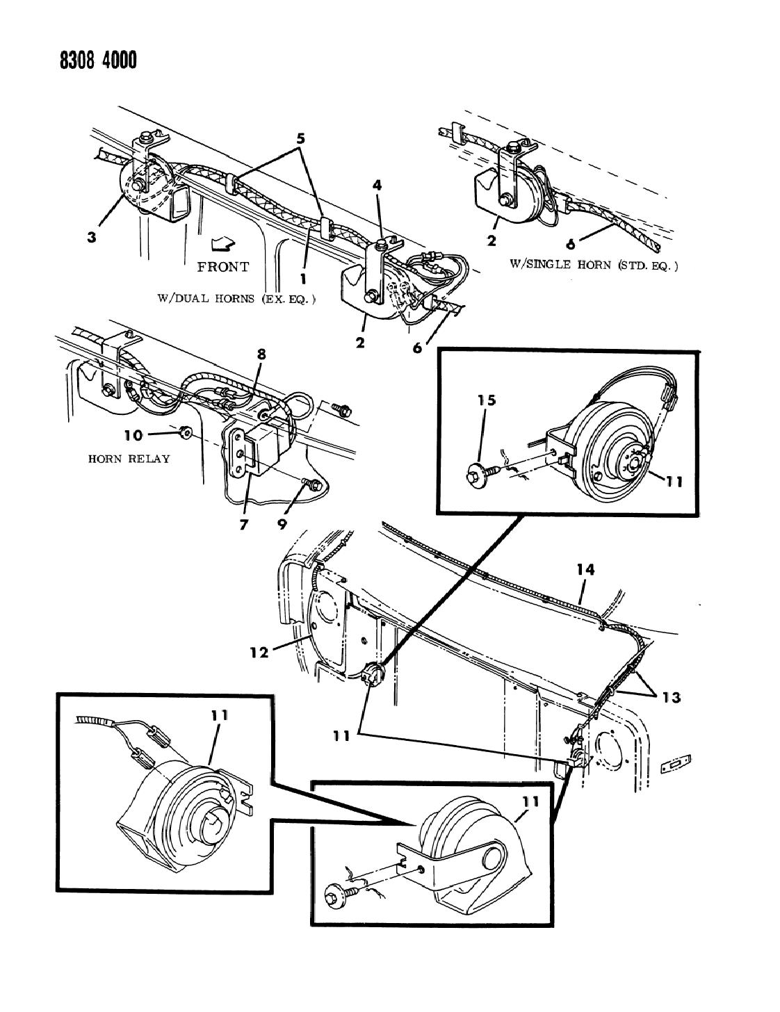 1989 Dodge Ram Van Horn Bracket Mopar Parts Giant Wiring Diagram
