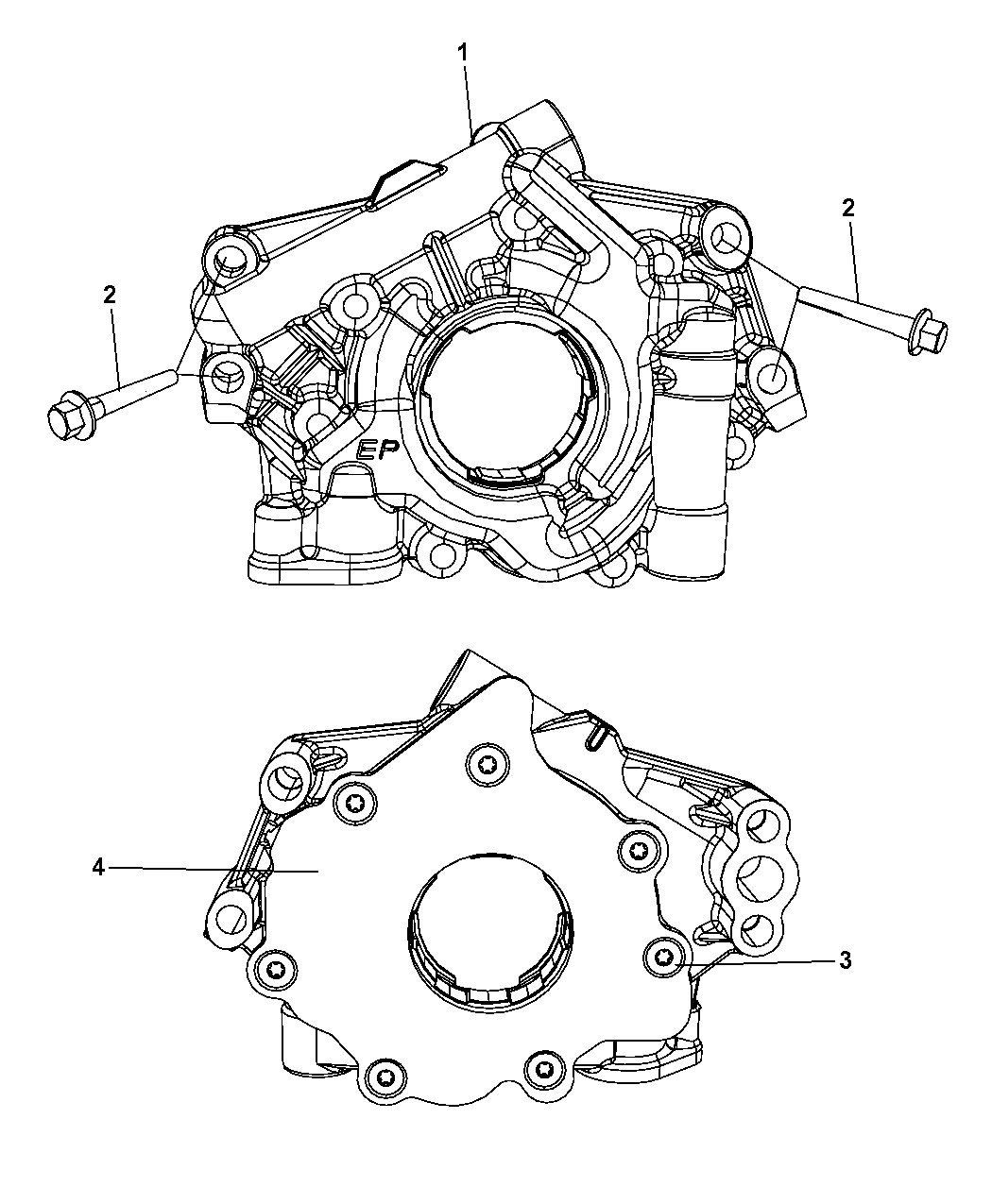 2011 jeep grand cherokee engine oil pump - thumbnail 1