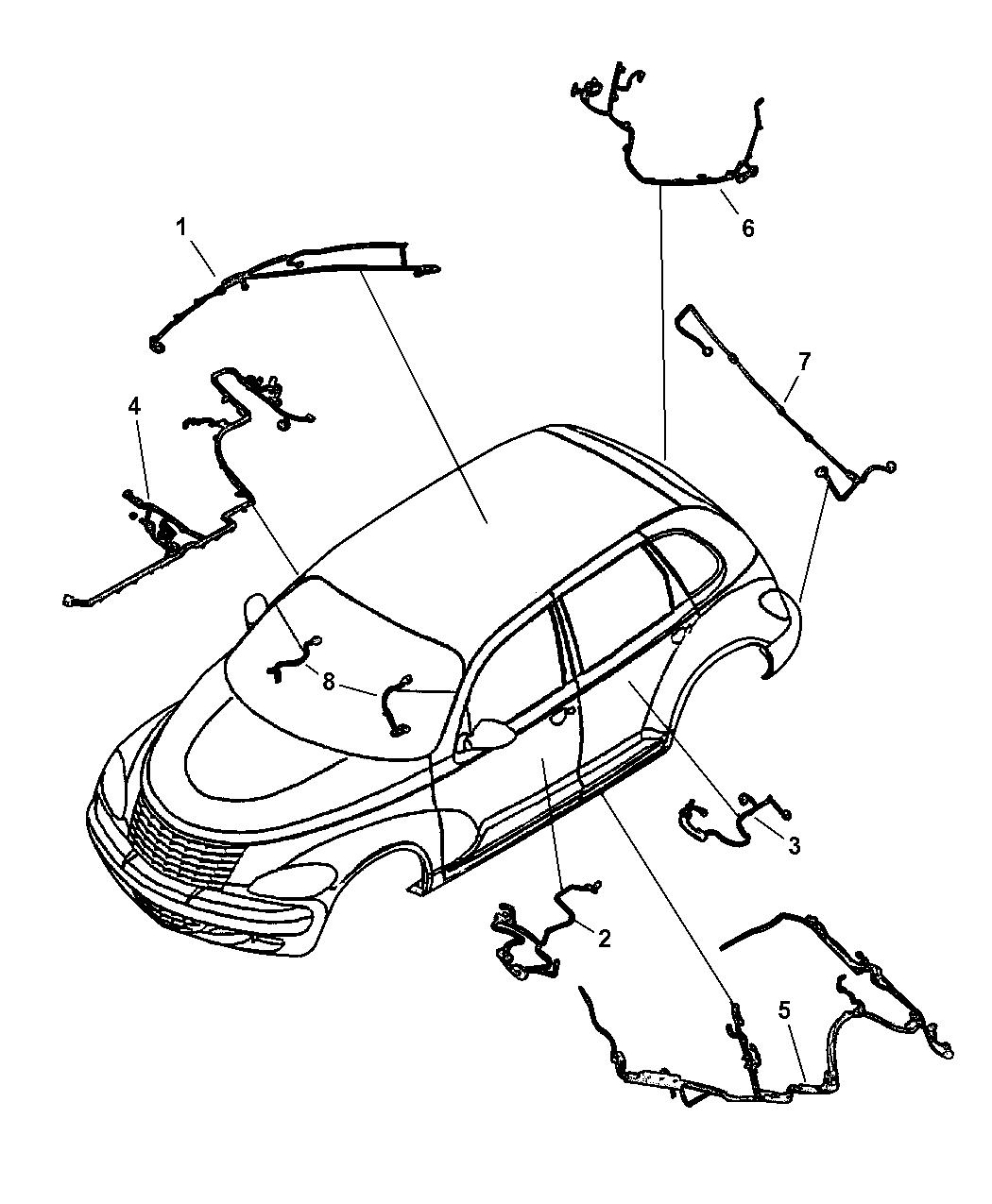2001 Chrysler Pt Cruiser Wiring Body  U0026 Accessory