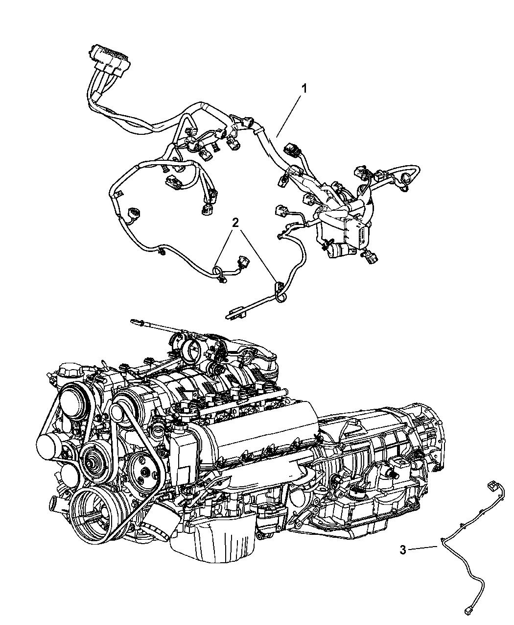 2007 Jeep Commander Wiring - Engine - Mopar Parts Giant Jeep Commander Transfer Case Wiring Diagram on