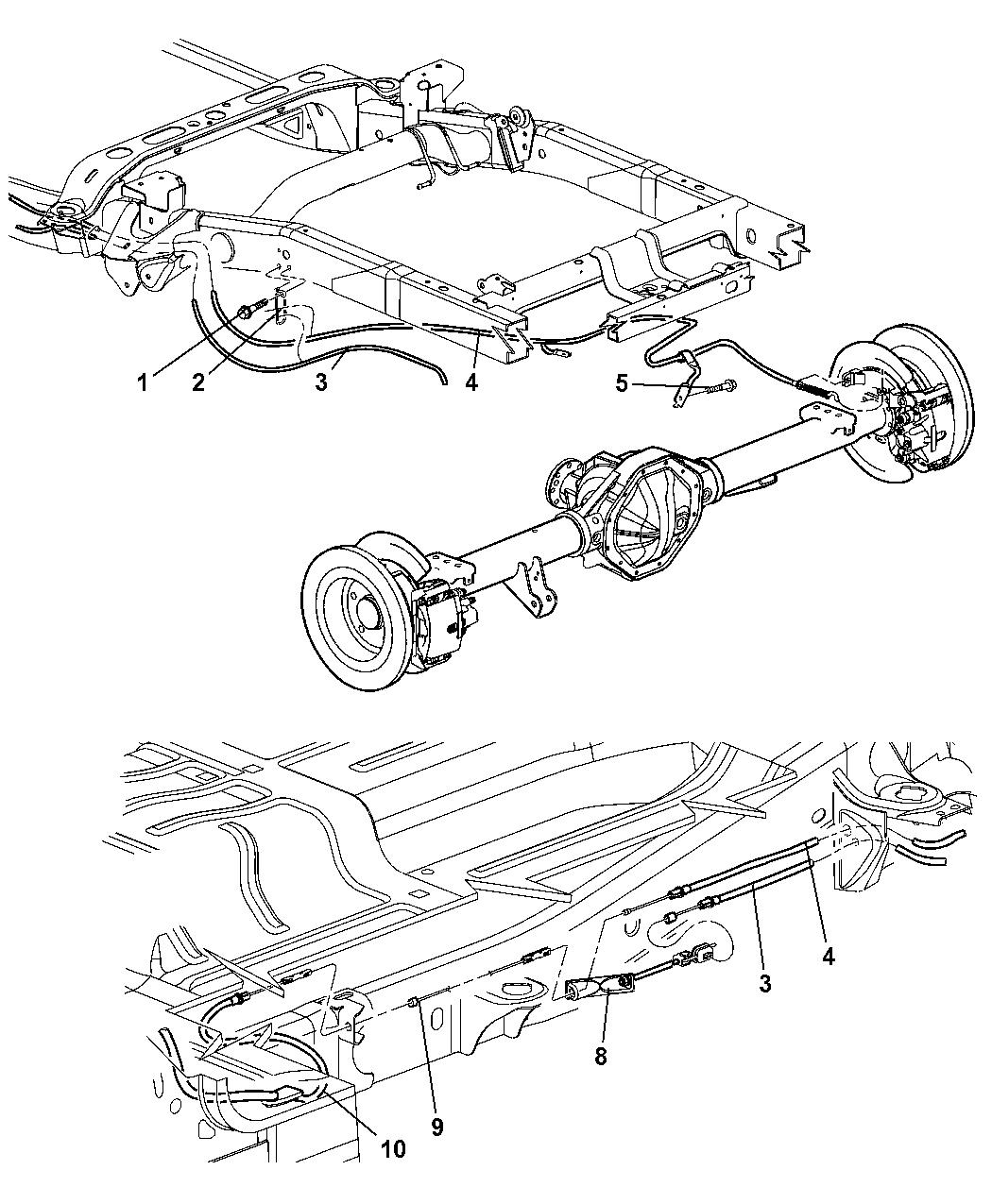 Parking Brake Cable Front Mopar 52010133AC