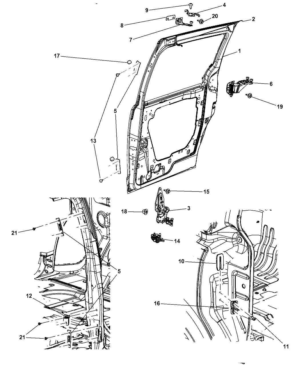dodge grand caravan door parts diagram  u2022 wiring diagram