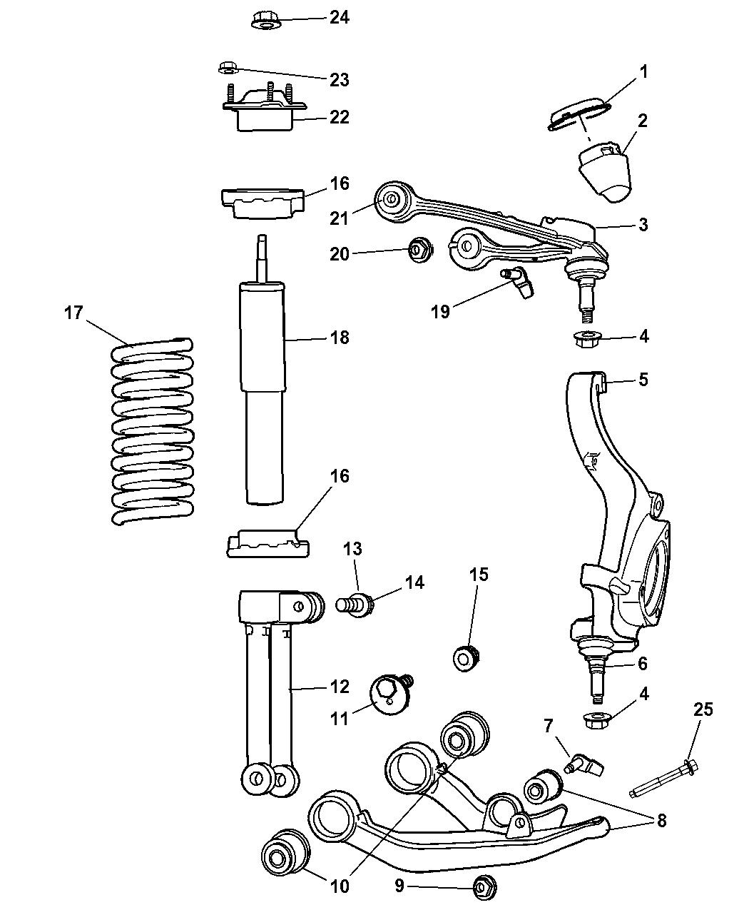 Diagram Of Jeep Liberty Rear Upper Control Arm