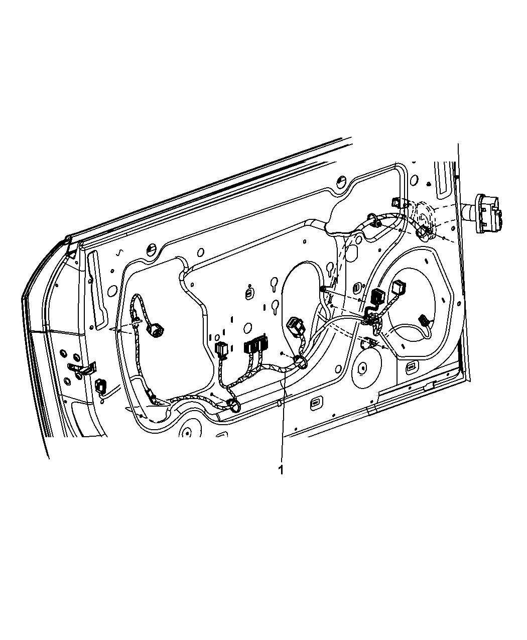 [CSDW_4250]   68065339AD - Genuine Mopar WIRING-FRONT DOOR | Challenger Side Mirror Wiring Diagram |  | Mopar Parts Giant