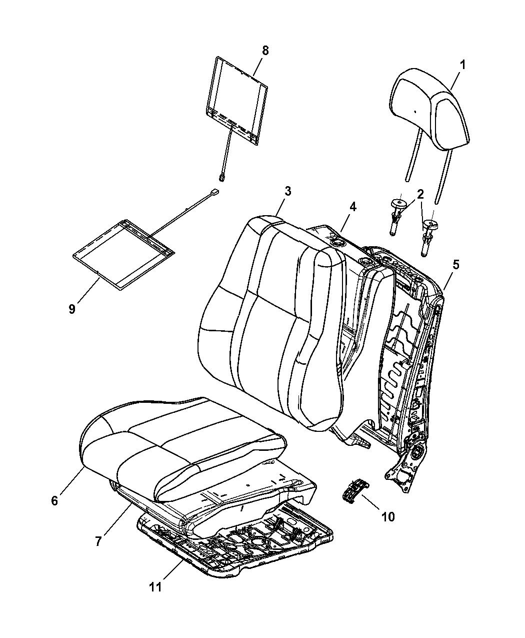 2009 Jeep Commander Exterior: Genuine Mopar COVER-FRONT SEAT CUSHION
