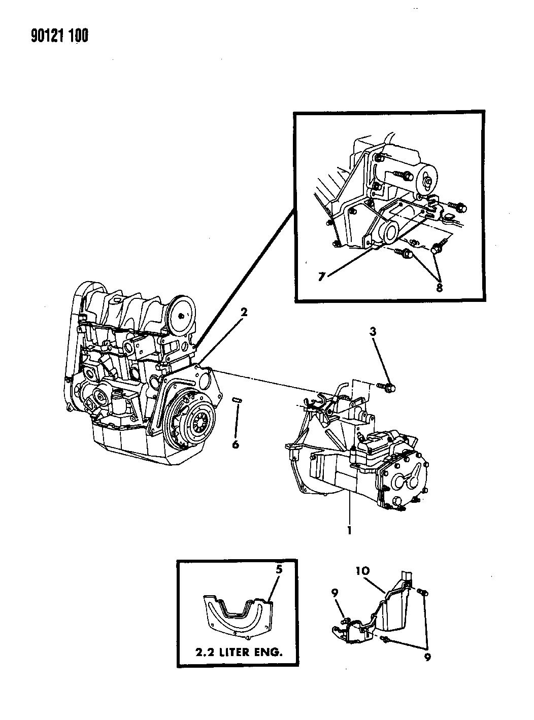 1990 Dodge Omni Transaxle Assemblies Mounting Of Manual Transmission 89 Wiring