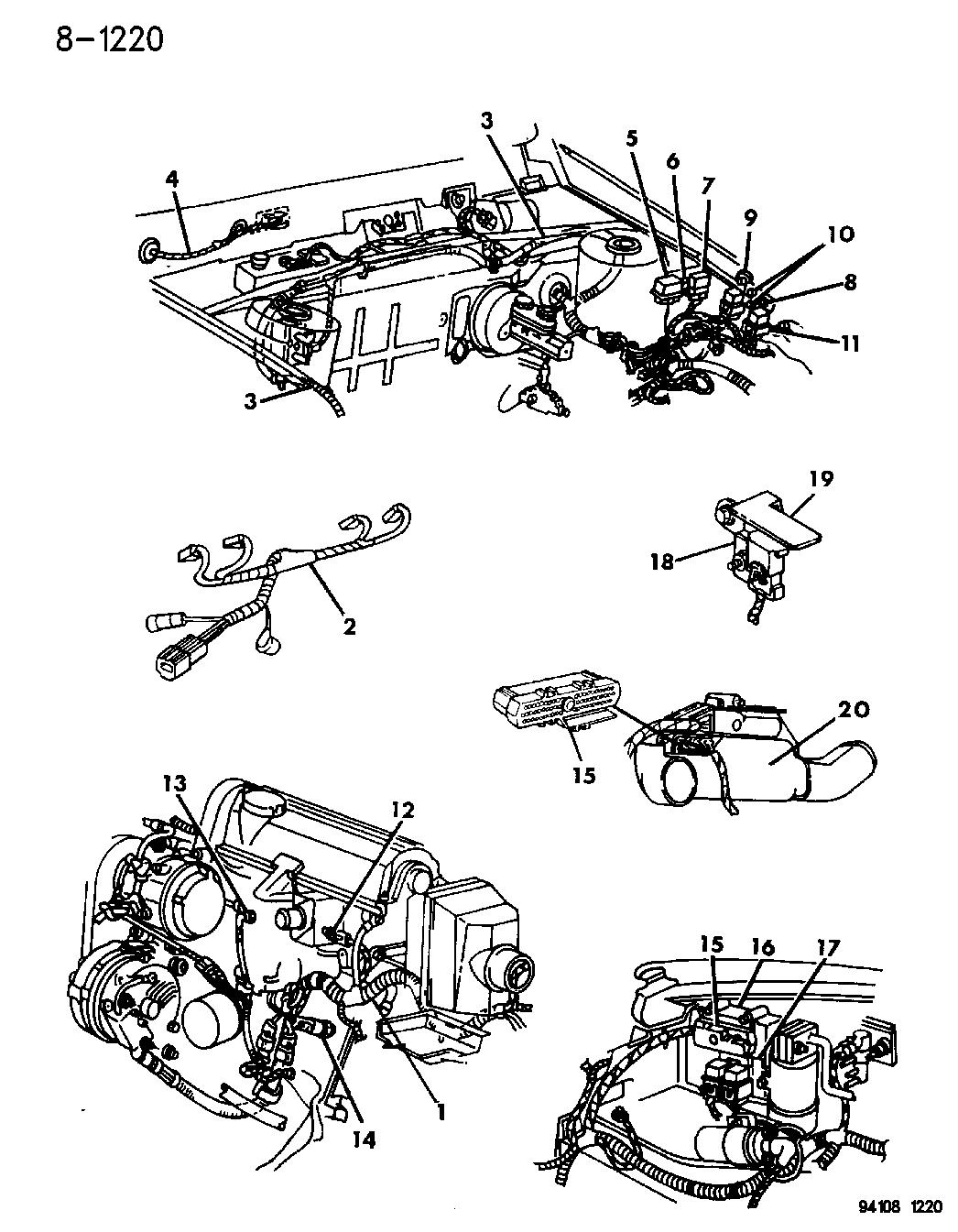 1994 Chrysler Lebaron Sedan Wiring Engine Related Parts 94 Diagram