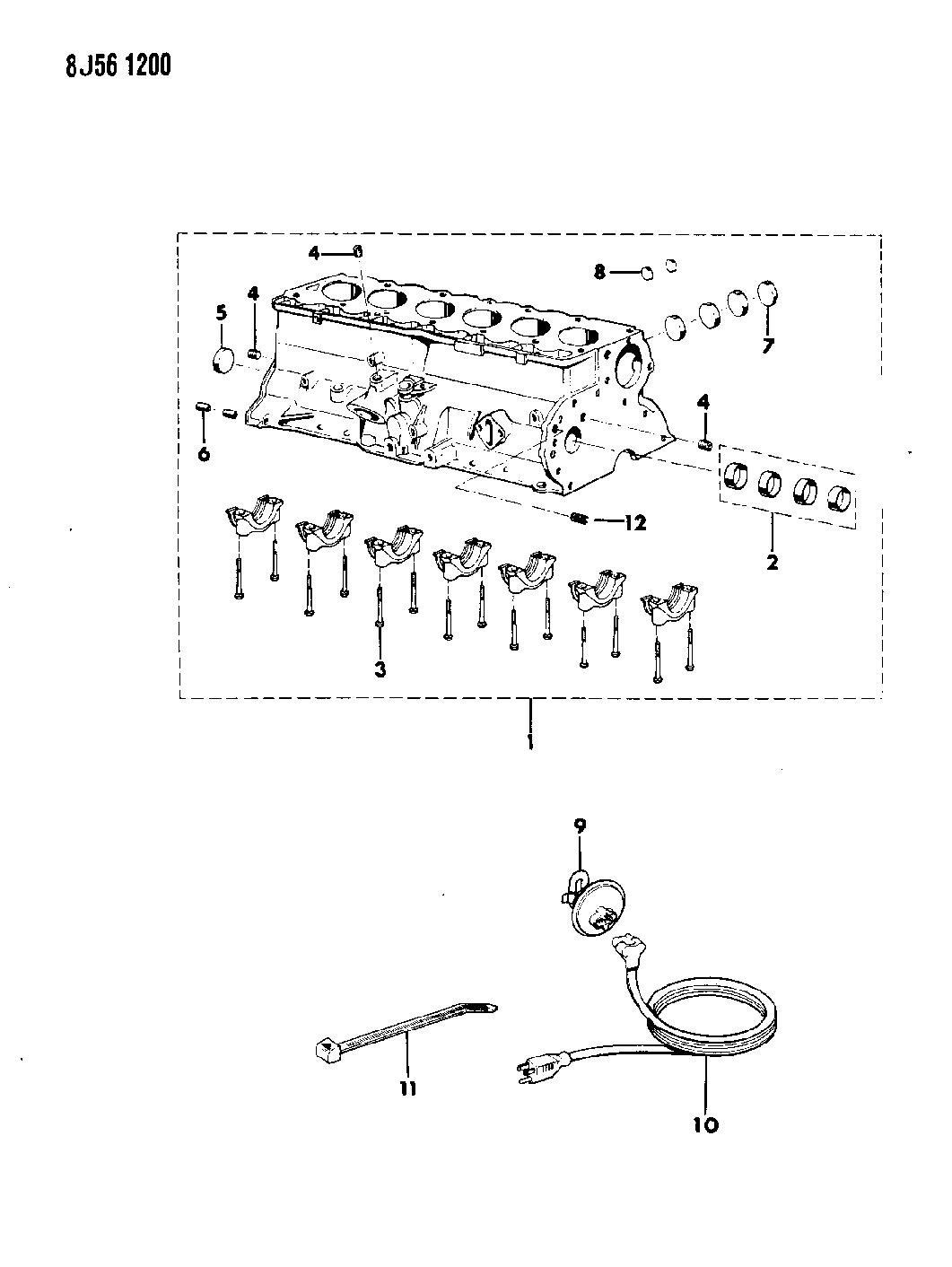 1987 Jeep Wrangler Cylinder Block Mopar Parts Giant Yj Engine Diagram Thumbnail 2