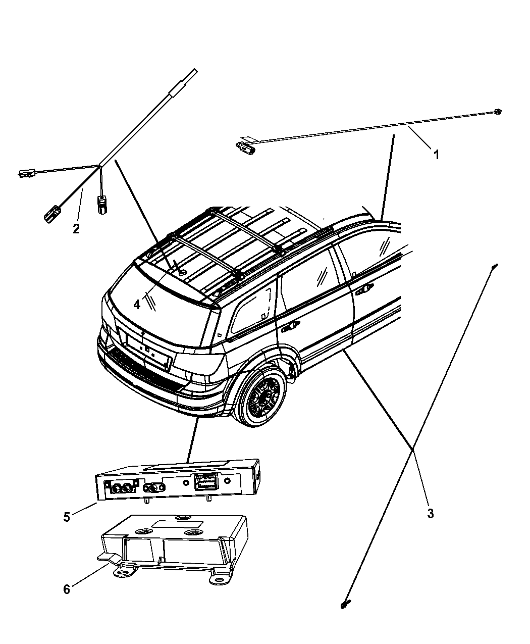 Genuine Chrysler BASE-BASE CABLE AND BRACKET