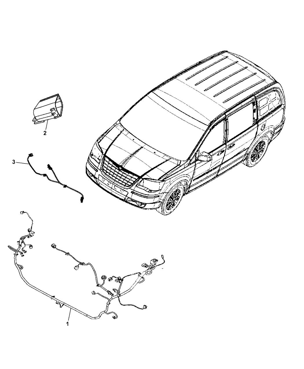 Chrysler Fog Light Wiring Diagram: Genuine Chrysler WIRING-HEADLAMP