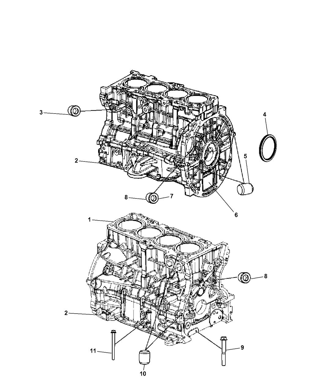 5183905af genuine jeep engine short block. Black Bedroom Furniture Sets. Home Design Ideas