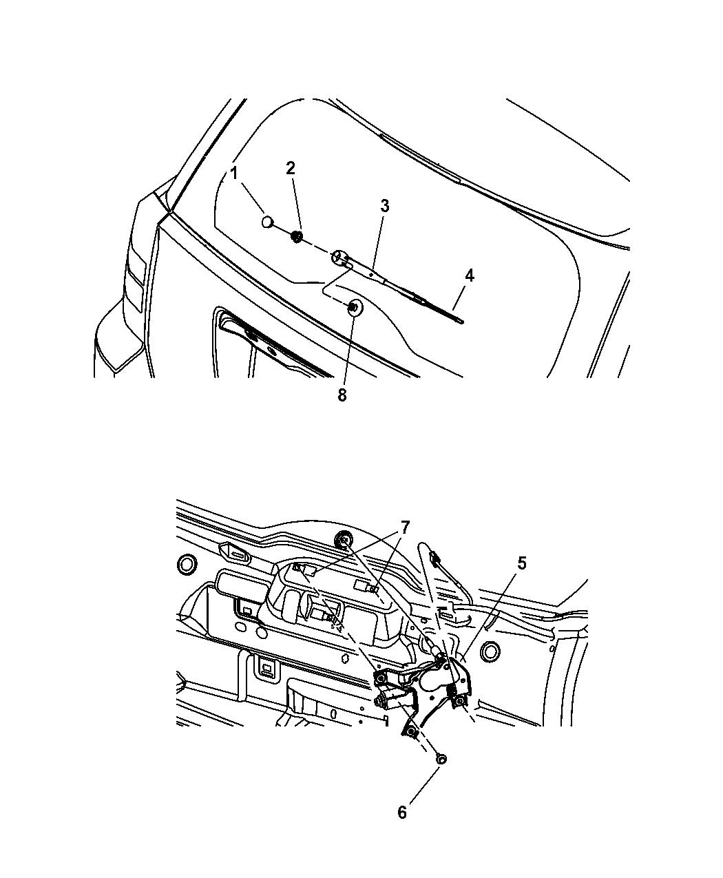 2012 jeep patriot rear wiper system mopar parts giant. Black Bedroom Furniture Sets. Home Design Ideas