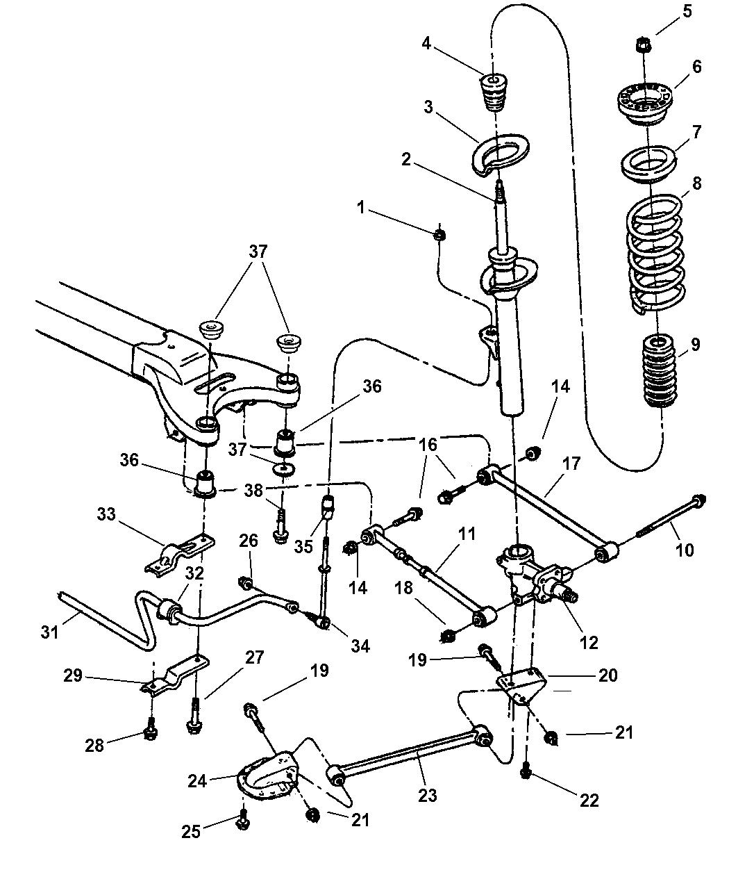 2002 chrysler 300m suspension rear mopar parts giant rh moparpartsgiant com