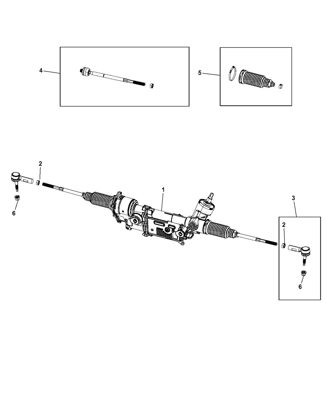 5154727aj Genuine Mopar Gear Rack And Pinion
