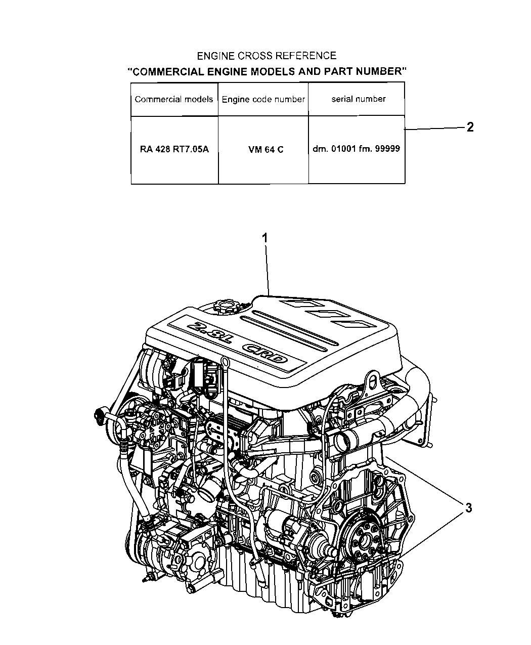 2008 Jeep Wrangler Engine Assembly & Identification - Thumbnail 1