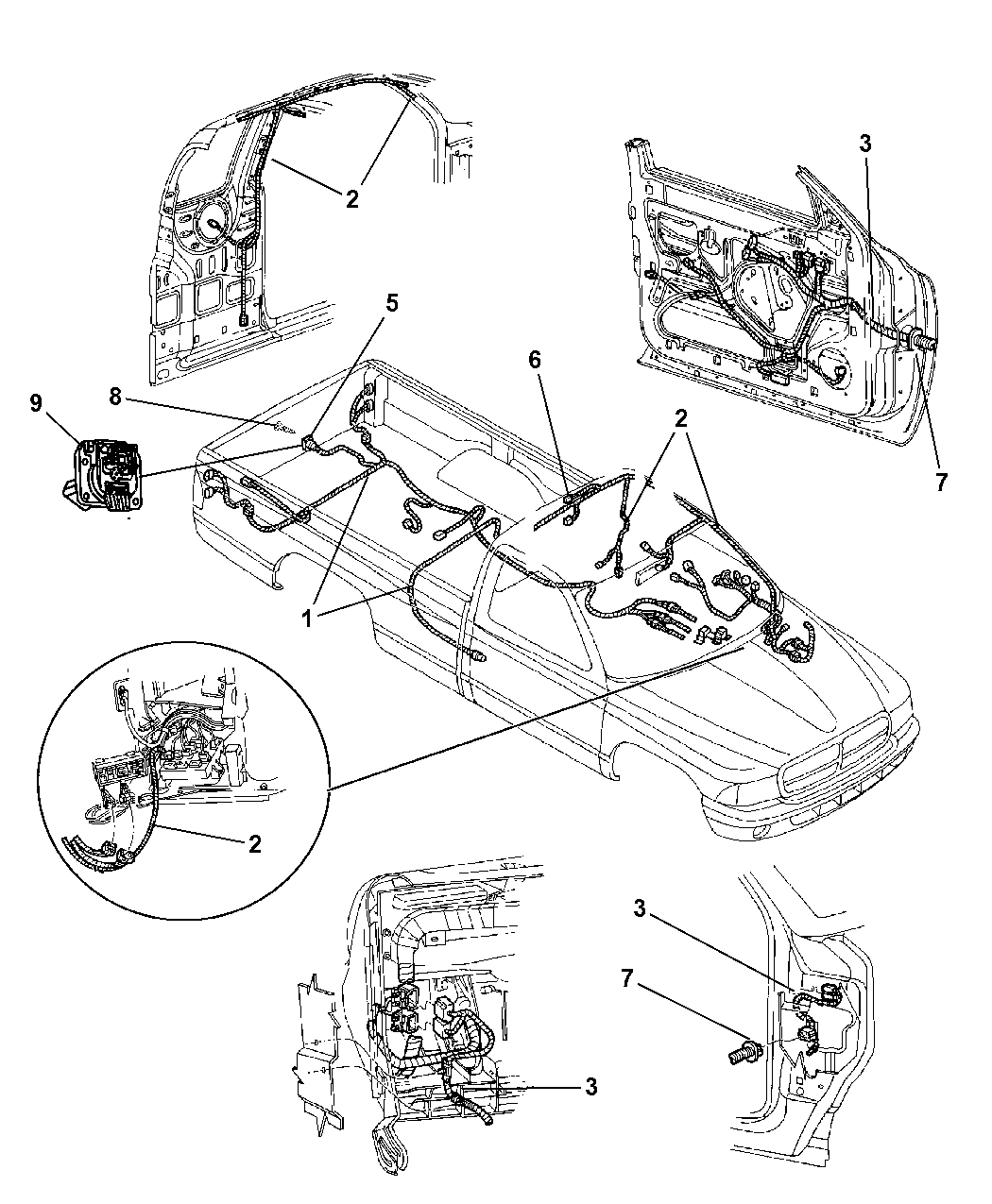 2004 Dodge Dakota Wiring - Body  U0026 Accessories